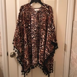 Leopard cardigan new without tags